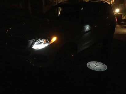 Mercedes' Night Security Illumination
